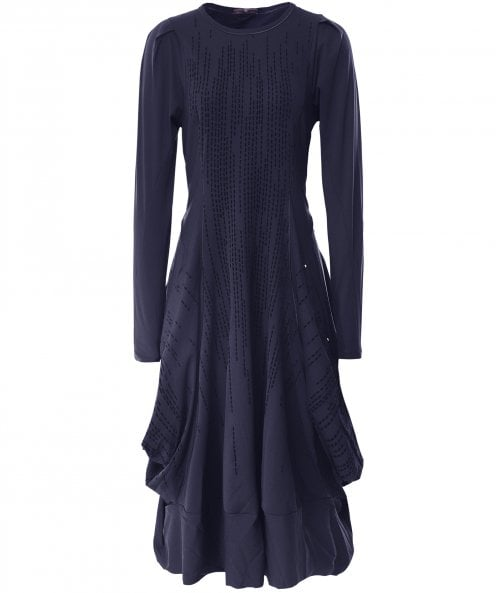 High Jessy Velvet Stripe Jersey Dress