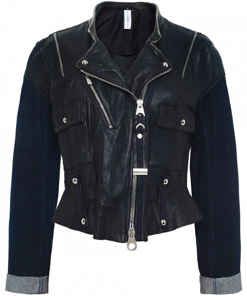 High Profound Leather and Denim Jacket
