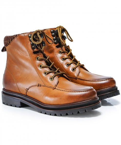 Hudson London Marlow Leather Hiker Boots