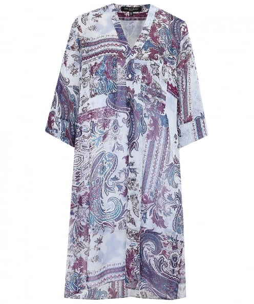 Ilse Jacobsen Chiffon Paisley Shirt Dress