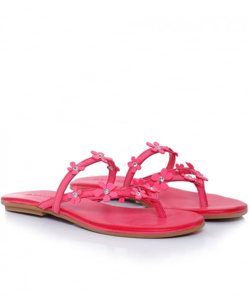 Inuovo Leather Flower Sliders