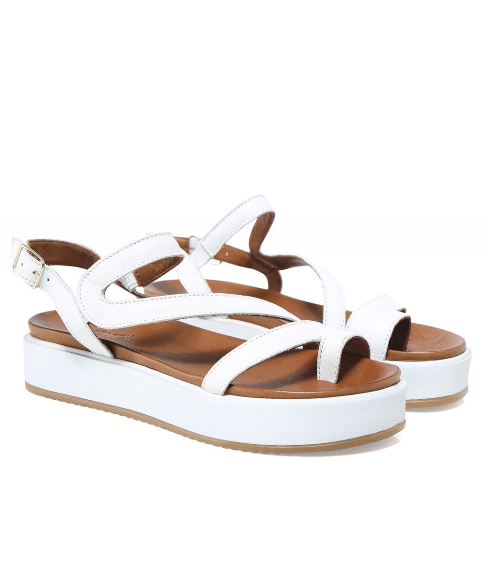 2e3d551b0fe Inuovo Leather Toe Post Wedge Sandals