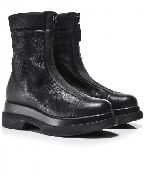 Lofina Bremba Leather Zip Front Boots