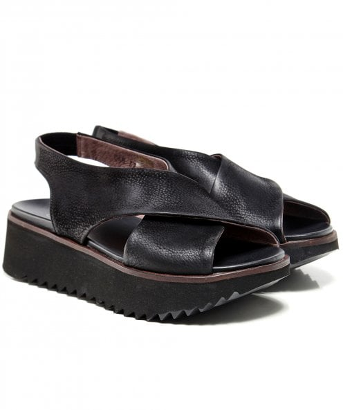 Lofina Leather Cross Sandals