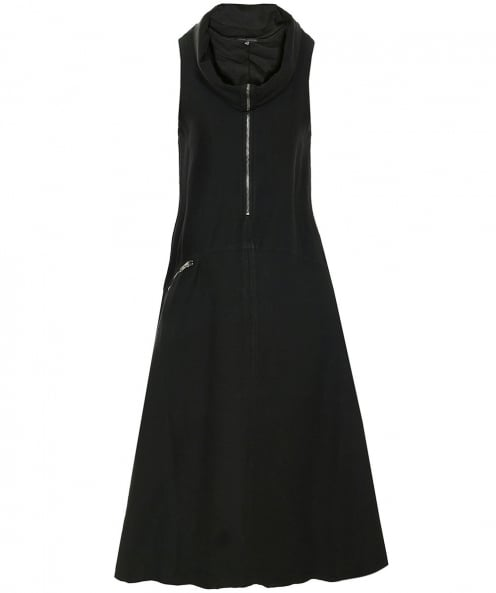 Lurdes Bergada Asymmetric Roll Neck Dress