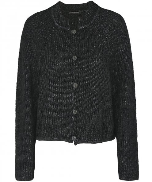 Lurdes Bergada Coated Ribbed Knit Cardigan