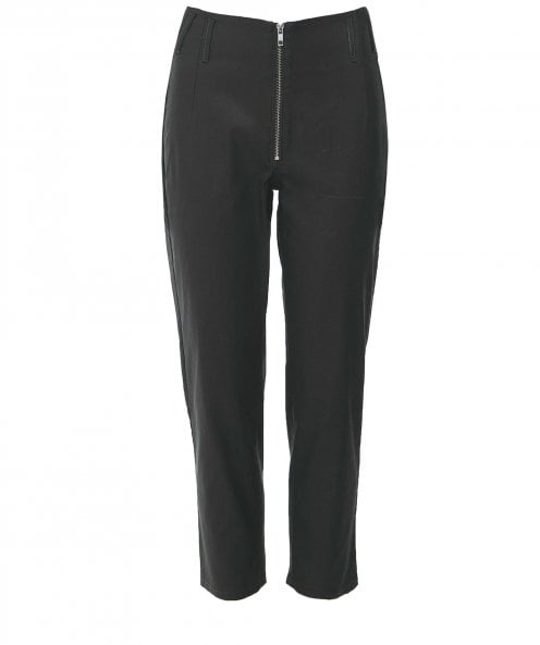 Lurdes Bergada Coated Zip Front Trousers