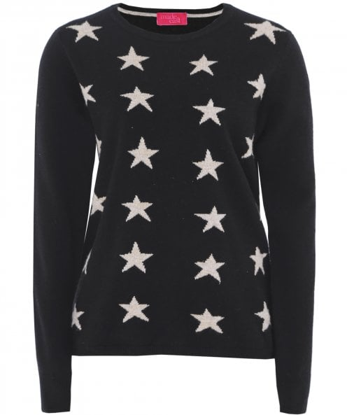 Made East Cashmere Kate Star Print Jumper