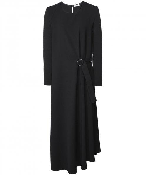 Crea Concept Maxi Dress with Rib Knit Sleeves