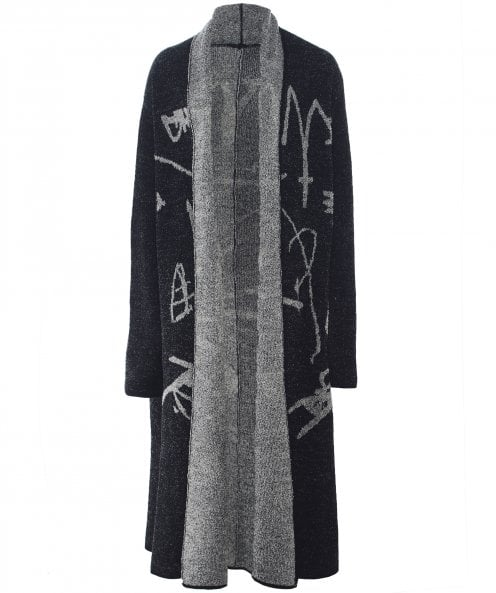 Moyuru Wool Open Front Knitted Coat