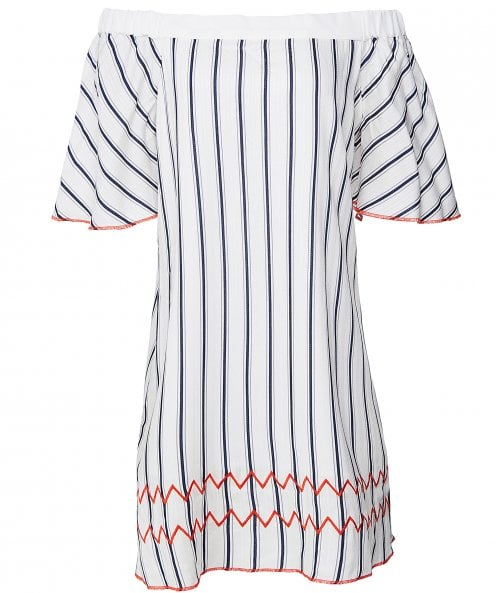 Charli Nera Stripe Bardot Dress