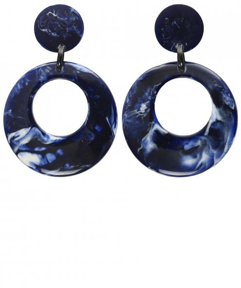 Nouv-Elle Circular Drop Earrings