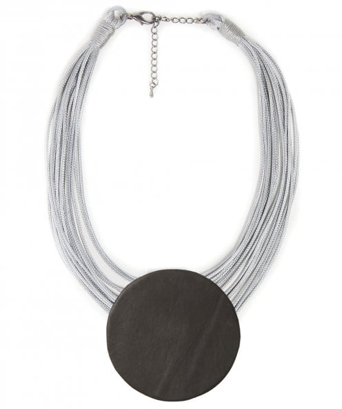 Nouv-Elle Multi-Strand Circle Pendant Necklace