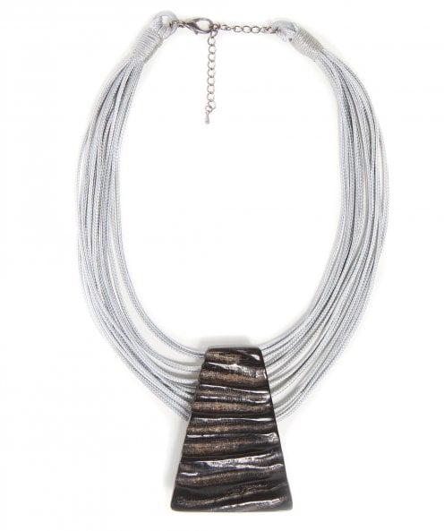 Nouv-Elle Pyramid Horn Necklace