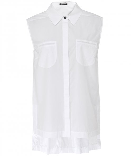 NU Sleeveless Oversized Shirt