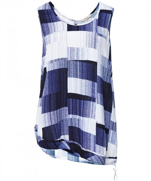 Crea Concept Patch Print Vest Top