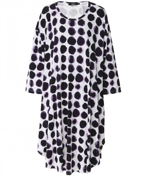 Ralston 3/4 Sleeve Spot Tunic Dress