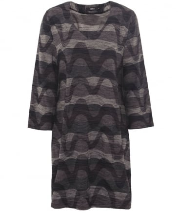 V-Neck Wave Print Tunic