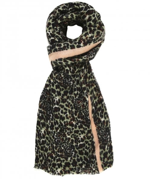 Rino and Pelle Cindel Leopard Print Scarf