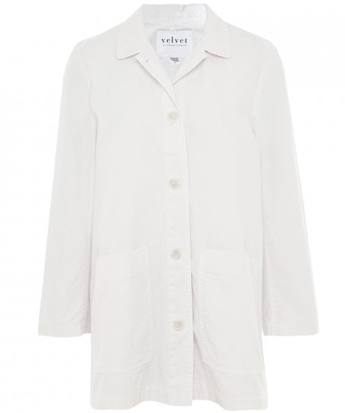 Velvet by Graham and Spencer Rivka Canvas Button-Up Jacket
