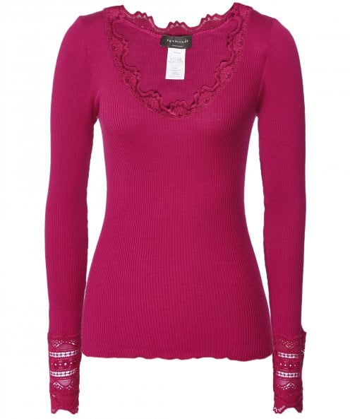 Rosemunde Benita Silk Blend Long Sleeve Top