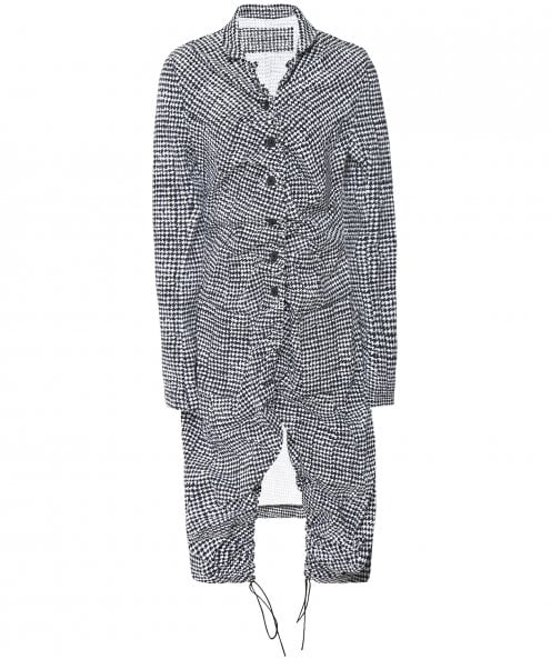 Rundholz Houndstooth Print Long Jacket