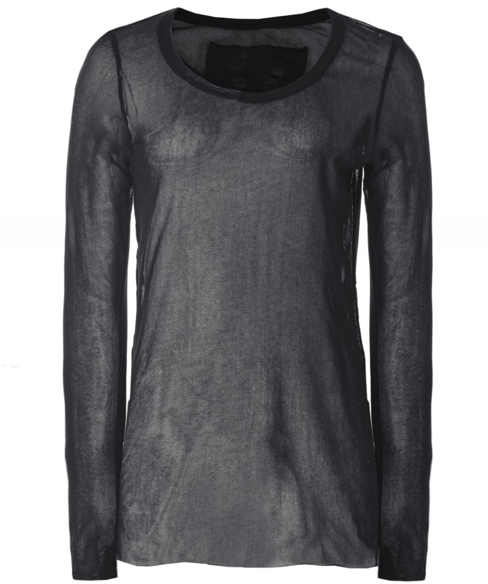 21925582c Rundholz Black Mesh Long Sleeve Top | Zen Wardrobe