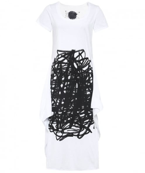 Rundholz Oversized Scribble Print Midi Dress