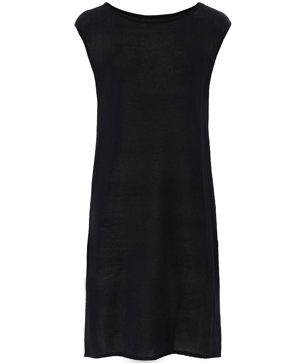 3be5c13046 Sarah Pacini Sheer Side Slit Tunic Top