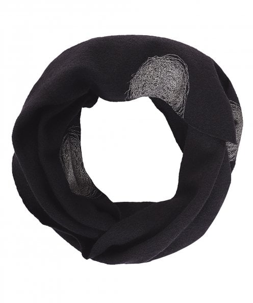 Ralston Wool Scribble Print Tube Scarf