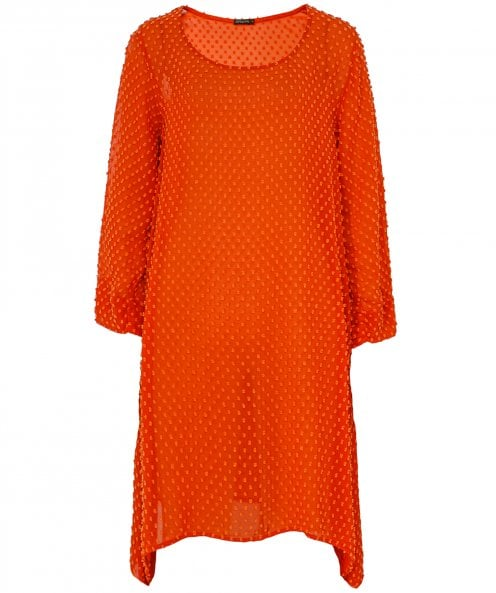 Grizas Silk & Cotton Textured Dot Tunic