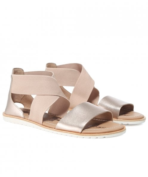 Sorel Metallic Leather Ella Sandals