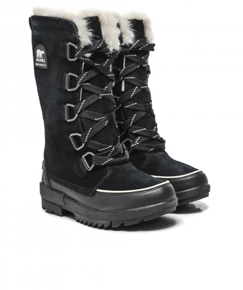 Sorel Suede Torino II Tall Faux Fur Trim Boots