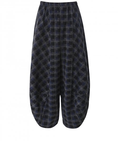 Thanny Wide Leg Check Trousers