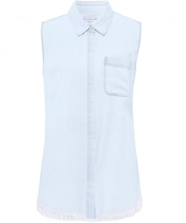 N7th & Kent Sleeveless Denim Shirt