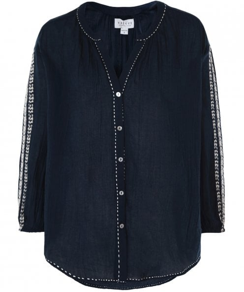 Velvet by Graham and Spencer Auburn Embroidered Blouse