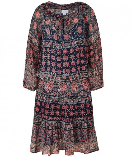 Velvet by Graham and Spencer Beth Monaco Print Peasant Dress