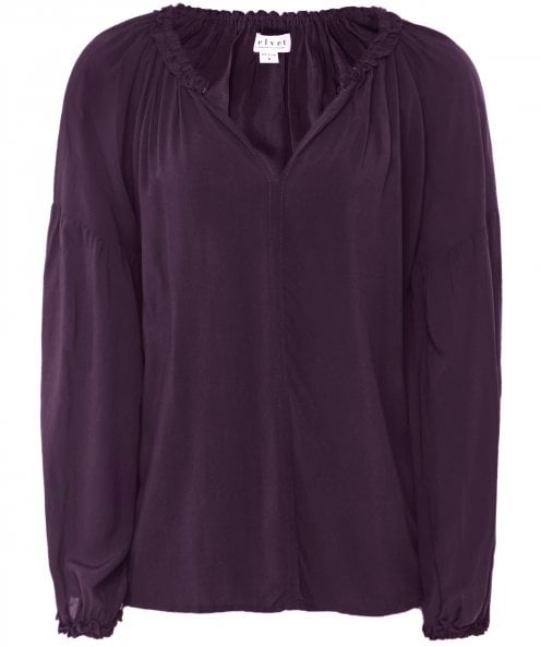 Velvet by Graham and Spencer Ella Open Neck Peasant Top
