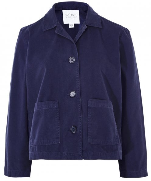 Velvet by Graham and Spencer Magdalin Canvas Crop Jacket