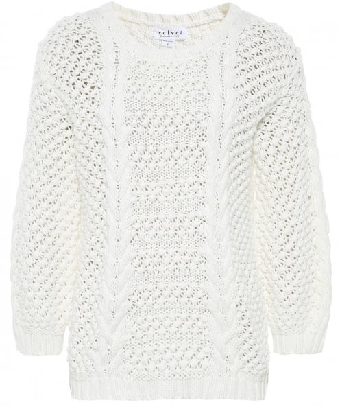 Velvet by Graham and Spencer Vienna Cable Knit Jumper