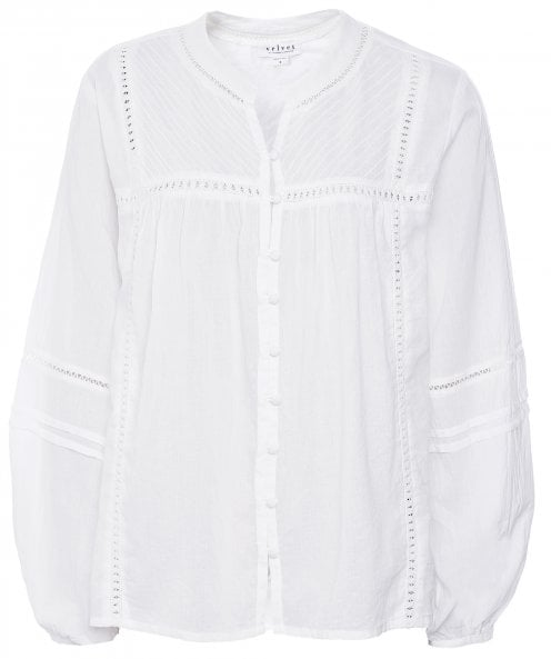 Velvet by Graham and Spencer Yadira Button Down Embroidered Shirt