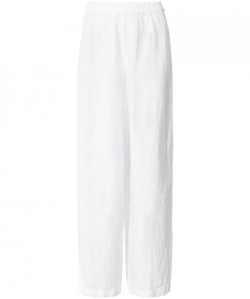 Grizas Washed Linen Wide Leg Trousers