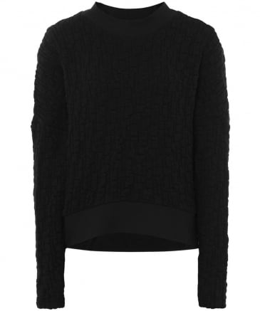 Textured Weave Bena Cropped Jumper