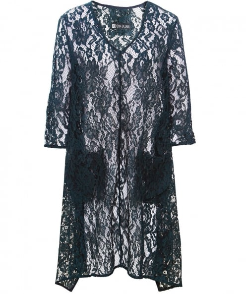 Xenia Design V-Neck Alys1 Lace Draped Tunic Top