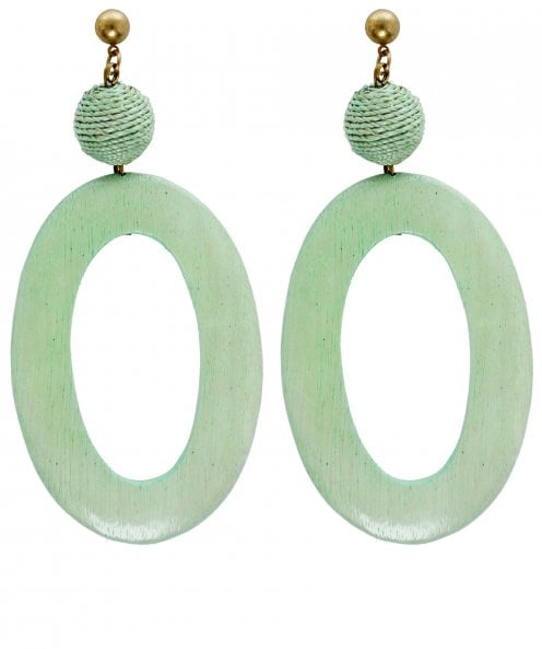 Zen Jewellery Oval Dangle Earrings