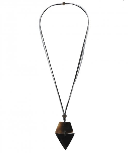 Zen Jewellery Triangle Cord Necklace
